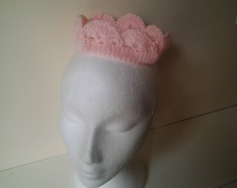 photo prop crown, baby crochet crown,  newborn crown, crochet crown 0- 3 month, ready to ship