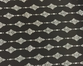 97 poly 3 Spandex Boho Black White 58-60 in w Fabric by the yard