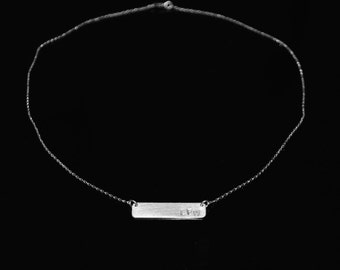CUSTOM* plate necklace (silver)