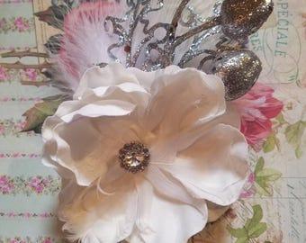 Ice Queen Hair Flower