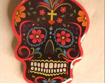 Sugar Skull Pin (Black)
