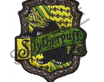 Slytherpuff Cross-House Crest Patch