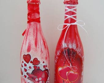 Valentine's Day decoupage sample.