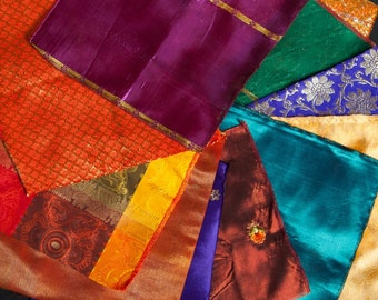 Sari fabric squares - NEW DEAL AVAILABLE