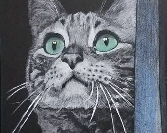 "A Custom Pet Portrait, 8"" x 10"""