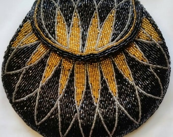 Vintage Gold and Black clutch