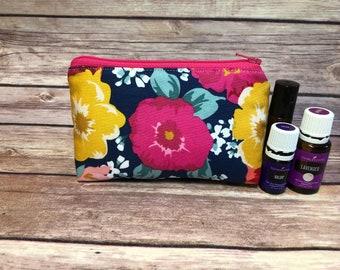 Flower oil bag, essential oil bag, oil bag, essential oil case, essential oil storage, oil holder, travel bag, zipper bag, oil accessories,