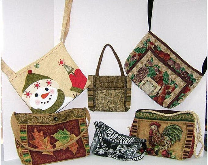 Judi Ward Original Design - BAGS, PURSES and TOTES  E-Pattern - Download Sewing Pattern