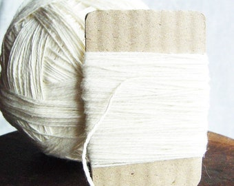 1 mm Cotton Rope White Soft Cotton Thread 50 Yards = 45 Meters Natural and Elegant COTTON Twisted CORD Ercu Cotton Bare Cotton Kitchen Rope