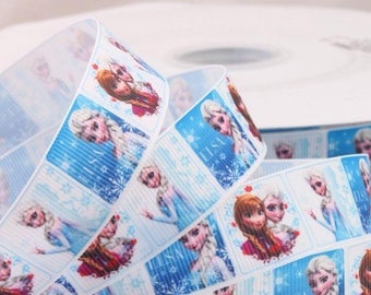 Grosgrain Ribbon sold in drop 1.65 meter frozen ANNA ELSA 22 mm