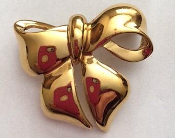 Vintage Bow Tie Brooch// Vintage Jewelry