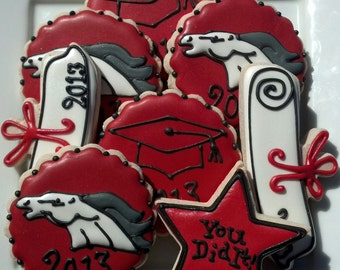 Graduation High School College Decorated Sugar Cookies