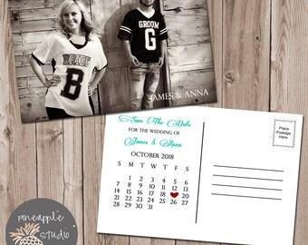 Save The Date Wedding Postcard, Wedding Printable