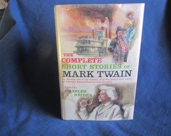 1957 ** The Complete Short Stories of Mark Twain ** ex libaray book ** Charles Neider   ** sj