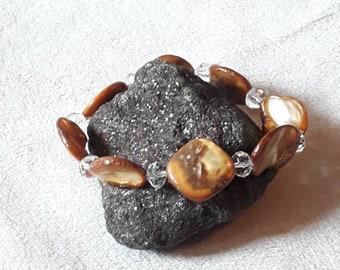 Bracelet coral & Crystal