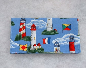 Checkbook Cover - Lighthouses