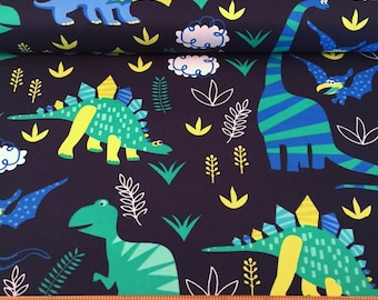 Dinosaur Print Cotton Fabric, Quilting and Patchwork Fabric - Fat Quarter