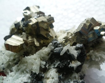 Nice Rare Quartz Crystal Cluster with Pyrite and Sphalerite, 9 September mine,