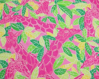 """17"""" x 17"""" Lilly Pulitzer Remnants Cotton Fabric Chilean Avenue"""