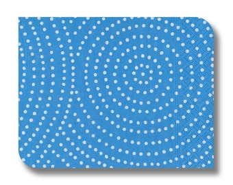 Blue paper napkin for decoupage x 1. Blue Spiral. No 1139
