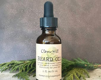 Unscented Beard Oil, Beard Conditioner, Beard Softener, Men's Facial Moisturizer, Beard Grooming, Men's Fragrance Free Skincare, 1oz/30ml