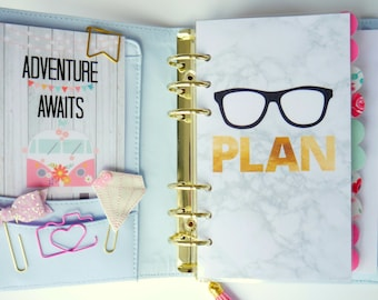 Plan Marble Personal, A5, A6, B6 and Pocket Size Planner Dashboards