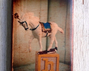 Vintage Toy  H is for Horse Art/Photo - Wall Art 4x6