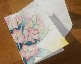 ORIGINAL Floral Greeting Cards / Watercolor / One of a kind / Painting / Gift / Assortment