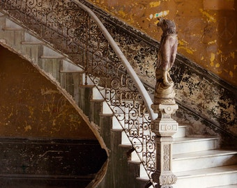"""Cuba Photography Print, Fine Art Photography, Urban Decay, Urban Art, Architecture Art, Abandoned Building in Havana """"The Staircase"""""""
