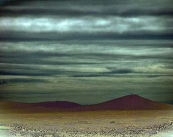 Science Fiction 5x7 Photography Museum Quality - Intergalactic Scenic Overlook Night Scene Desert Landscape Vulcan Planet Star Trek