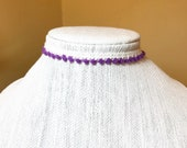 Purple and Ivory Choker A...
