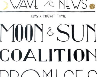 MOON + SUN - A3 screen print
