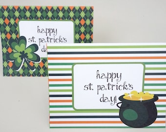 St. Patrick's Day Note Cards Digital Download