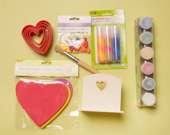 February Toddler Preschool Craft and Art Supply Box
