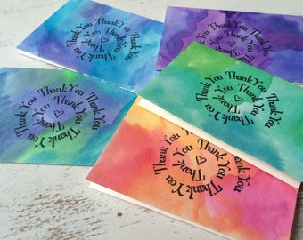 Hand Painted Watercolor Thankyou Notes