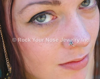 Little Bee Nose Ring in Sterling Silver - CUSTOMIZE