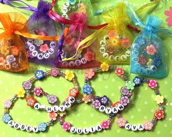 Kinder personalisierte Luau Partei begünstigt Blume Lei Armbänder Kinder Schmuck Namen Armband Tiki Partei Moana Themen Party Garten Party Ton