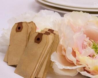 100 SMALL Vintage Tag. Travel Theme. Bohemian. Anthropologie. Vintage Wedding. Escort Card. Place Card. Escort Card Blank. Price Tag. LIGHT