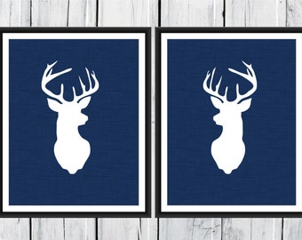 Deer Antlers - Hunting Lodge Decor - Antler Print  Nursery Decor