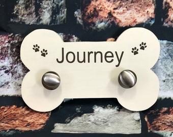 Dog Leash Holder   Wood Dog bone   Leash Holder   Pet Room Decor    Dog lover gift   kennel decor    home decor   Gift   New Puppy   Name