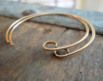 Shoals 14kt Yellow or Rose Goldfill Earwires - Handmade. Handforged