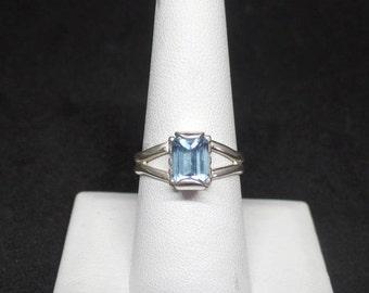 Blue Topaz Ring, Sterling Silver 2.3 Carat Blue Topaz Ring, Ladies Topaz Ring, Women's Topaz Jewelry, Under 100, Blue Topaz Jewelry, 1421