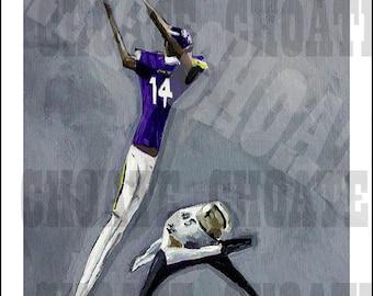 Minnesota Vikings, Stefon Diggs Game Winning TD Catch. Art Print