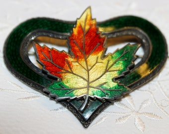 Victorian Maple Leaf Brooch