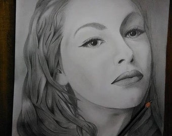 Pencil drawings, portraits, personalized gifts, portraits for boyfriends. Free Shipping