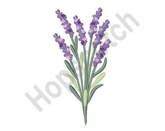 Lavender Herb - Machine Embroidery Design