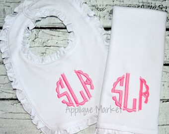 Machine Embroidery Design Embroidery Scallop Circle Satin Monogram Font INSTANT DOWNLOAD