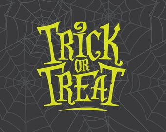 Trick or Treat, Trick or Treat SVG, Halloween SVG, Halloween Clipart, Cricut Cut File, Silhouette File, Cuttable