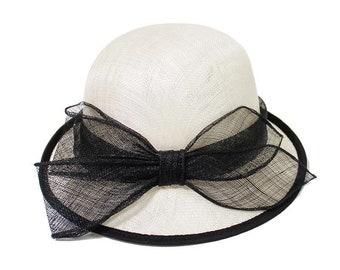 Straw hat Ribbon bow Basin of dome cap hat The summer sun hat The fisherman hat Folding sun straw hat