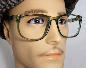 Vintage Eyeglass Frame, Zeiss, Made in West Germany, Green